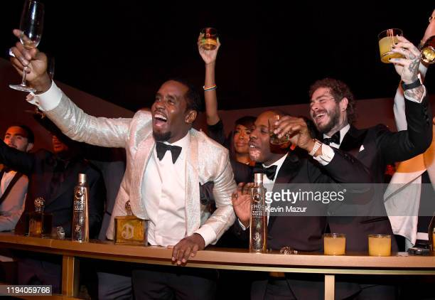 Sean Combs and Post Malone attend Sean Combs 50th Birthday Bash presented by Ciroc Vodka on December 14 2019 in Los Angeles California