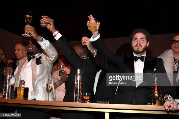 Sean Combs and Post Malone attend Sean Combs 50th Birthday Bash presented by Ciroc Vodka on December 14, 2019 in Los Angeles, California.
