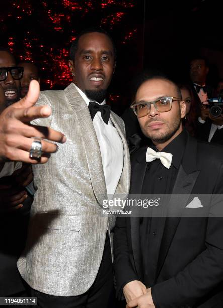 Sean Combs and Richie Akiva attend Sean Combs 50th Birthday Bash presented by Ciroc Vodka on December 14, 2019 in Los Angeles, California.