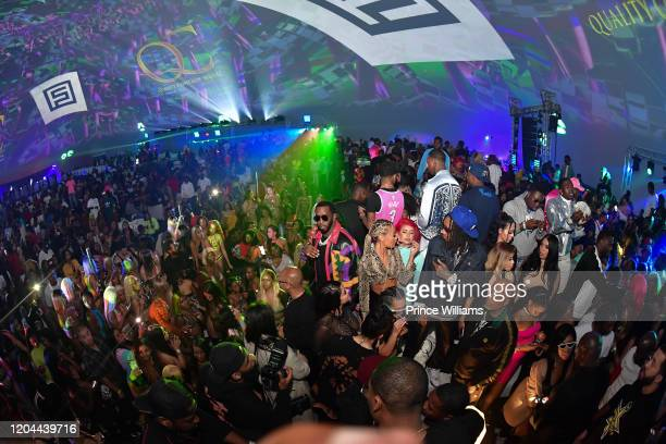 Sean Combs and Wiz Khalifa attend the Million Dollar Bowl at The Dome Miami on February 3 2020 in Miami Florida