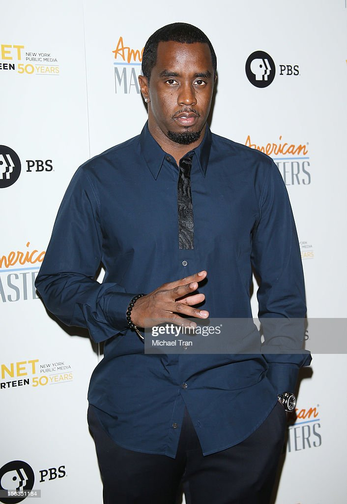 Sean Combs arrives at the Los Angeles premiere of 'Inventing David Geffen' held at Writer's Guild Theater on November 13, 2012 in Los Angeles, California.