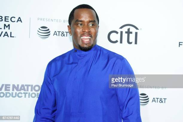 Sean Combs attends Can't Stop Won't Stop The Bad Boy Story Premiere 2017 Tribeca Film Festival at The Beacon Theatre on April 27 2017 in New York City