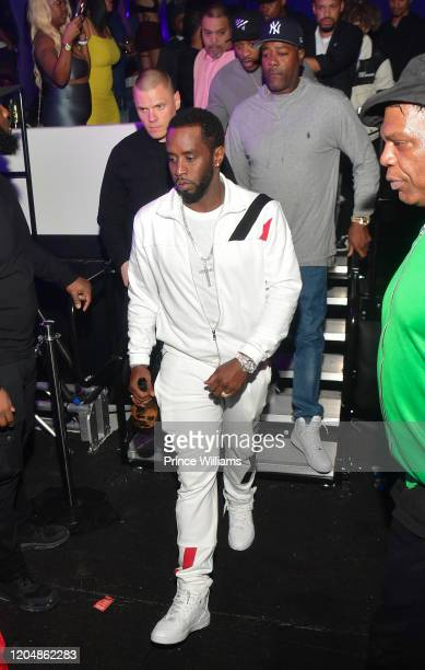 Sean Combs attends The Big Game Weekend at The Dome Miami on February 1 2020 in Miami Florida