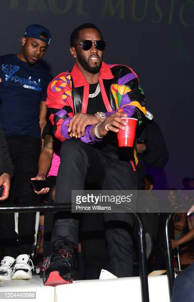 Sean Combs attends the Million Dollar Bowl at The Dome Miami on February 3 2020 in Miami Florida
