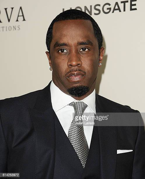 Sean Combs attends the premiere of 'The Perfect Match' at ArcLight Hollywood on March 7 2016 in Hollywood California