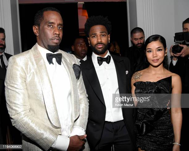 Sean Combs Big Sean and Jhené Aiko attend Sean Combs 50th Birthday Bash presented by Ciroc Vodka on December 14 2019 in Los Angeles California