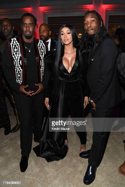 Sean Combs Cardi B and Offset attend Sean Combs 50th Birthday Bash presented by Ciroc Vodka on December 14 2019 in Los Angeles California