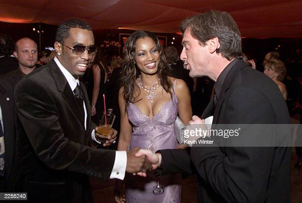 Sean Combs, Garcelle Beauvais-Nilon and her husband Mike Nilon at the In Style/Warner Bros. Post-Golden Globes party at the Beverly Hilton Hotel,...