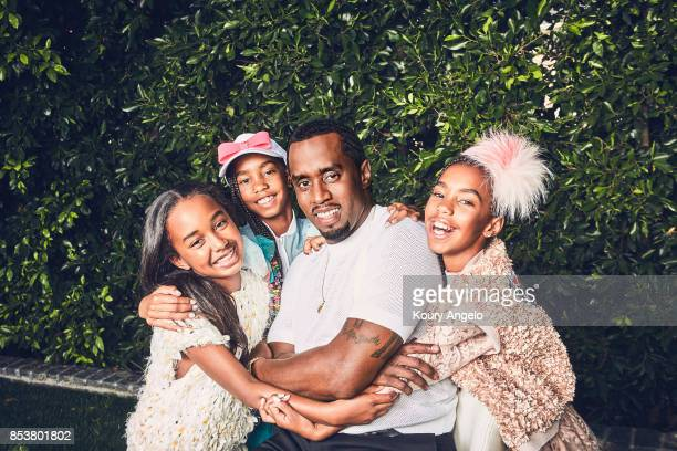 Sean Combs is photographed at home with his family for People Magazine on June 20 2017 in Los Angeles California