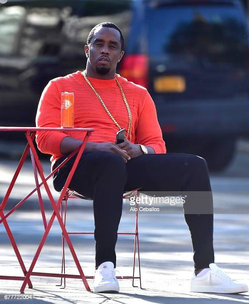 Sean Combs is seen at Greenwich Village on May 3 2017 in New York City