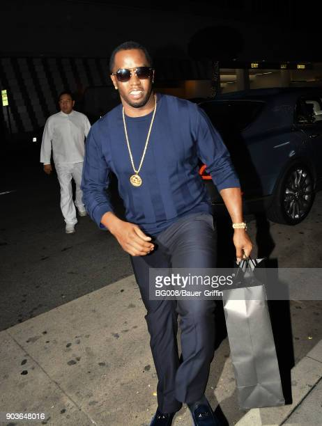 Sean Combs is seen on January 10 2018 in Los Angeles California