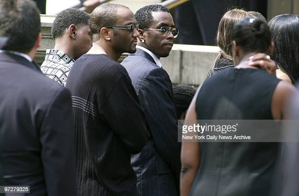 Sean Combs leaves St Ignatius Loyola Roman Catholic Church on E 84th St after attending funeral service for RB star Aaliyah The 22yearold...