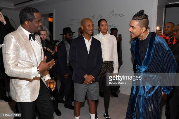 Sean Combs Pharrell Williams Helen Lasichanh and Quincy Combs attend Sean Combs 50th Birthday Bash presented by Ciroc Vodka on December 14 2019 in...