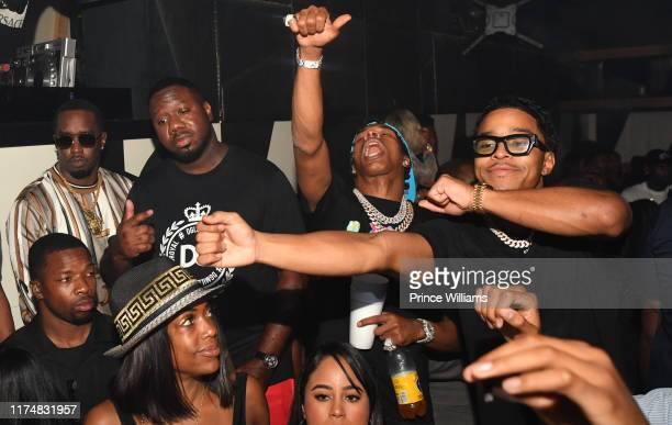 Sean Combs Pierre 'Pee' Thomas Lil Baby and Justin Combs attend Bad Boy Quality Control Takeover at Gold Room on September 14 2019 in Atlanta Georgia