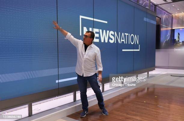 Sean Compton, executive vice president of WGN America, talks about the versatile digital screens inside the new national cable 'News Nation' studio,...