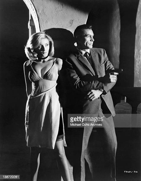 Sean Connery and Daniela Bianchi in a scene from the United Artists movie 'From Russia with Love' in 1963
