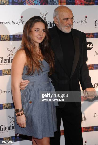 Sean Connery and guest attend the 8th annual Dressed To Kilt Charity Fashion Show at M2 Ultra Lounge on April 5 2010 in New York City