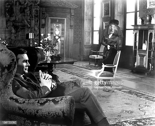 Sean Connery and Rose Alba in a scene from the United Artists movie 'Thunderball' in 1965