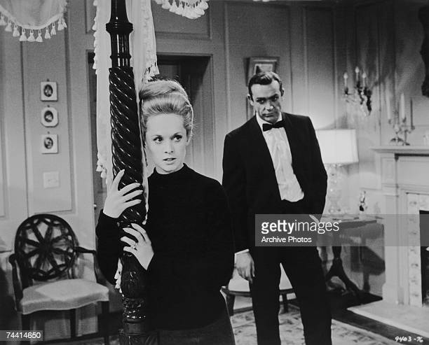 Sean Connery and Tippi Hedren star in the romantic thriller 'Marnie' directed by Alfred Hitchcock for Universal 1964