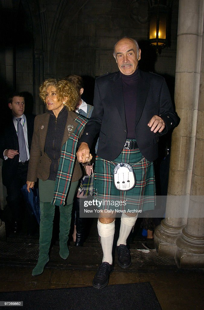 Sean Connery And Wife Micheline Arrive At The Synod House At St