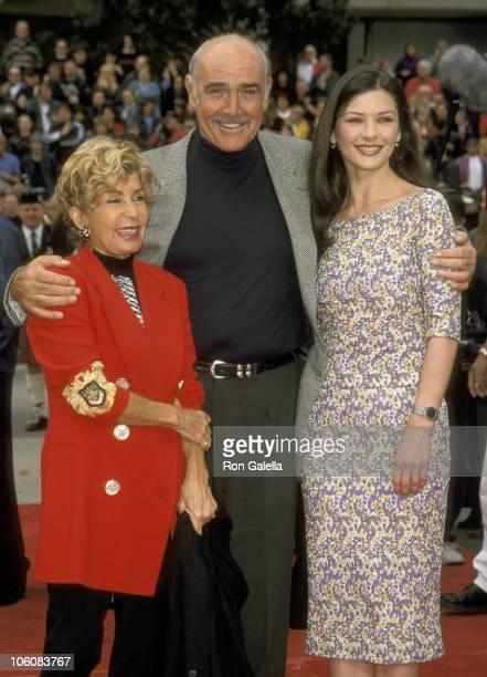 Sean Connery and Wife Micheline Roquebrune and Catherine Zeta Jones