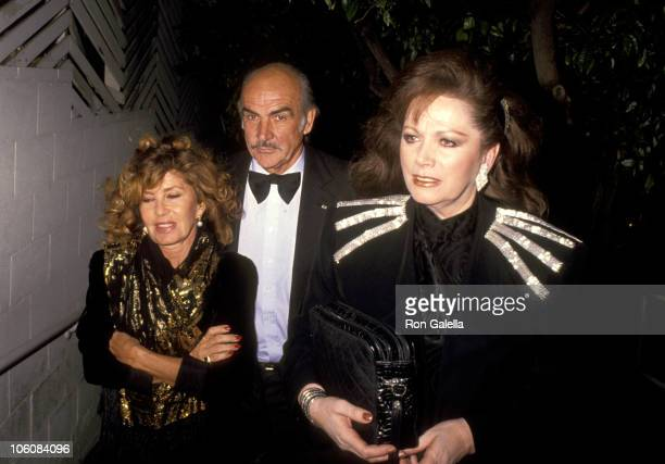 Sean Connery and Wife Micheline Roquebrune and Jackie Collins
