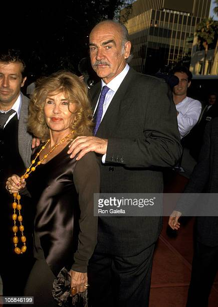 Sean Connery and Wife Micheline Roquebrune during First Knight Los Angeles Premiere at The Academy Theater in Beverly Hills California United States