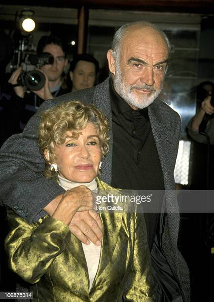 Sean Connery and Wife Micheline Roquebrune during Opening Night of ART January 19 1999 at Doolittle Theater in Hollywood California United States