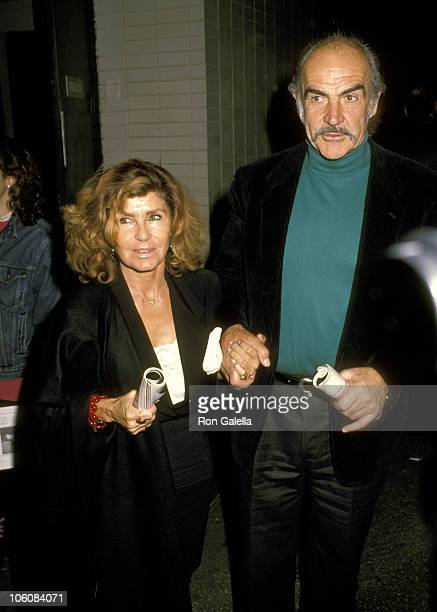 Sean Connery and Wife Micheline Roquebrune during Waiting for Godot Premiere at Lincoln Center in New York City New York United States