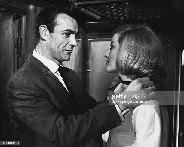 Sean Connery as James Bond and Daniela Bianchi in the 1963 film From Russia With Love