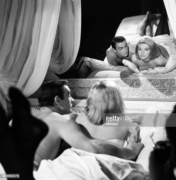 Sean Connery as James Bond with actress Daniela Bianchi as Tatiana Romanova in scene from the film From Russia With Love April 1963
