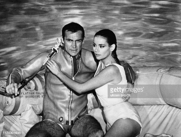 """Sean Connery, Claudine Auger in """"Thunderball"""" 1965"""