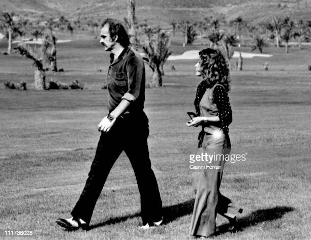 Sean Connery in the golf courses of 'La Manga del Mar Menor' with his wife Micheline Roquebrune Murcia Spain