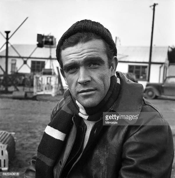 Sean Connery on the set of the film 'Action of the Tiger' November 1956 A357