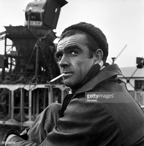 Sean Connery on the set of the film 'Action of the Tiger' November 1956 A357005