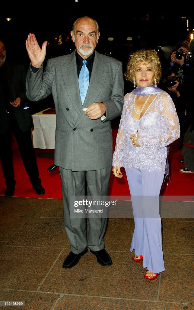 Sean Connery with his wife Micheline Roquebrune during 'The League Of Extraordinary Gentlemen' Uk Premiere at The Odeon Leicester Square in London, United Kingdom.