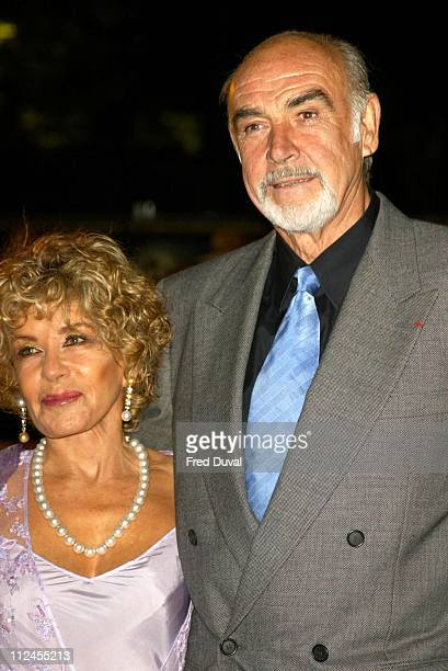 Sean Connery with wife Micheline Connery during The League of Extraordinary Gentlemen London Premiere at Odeon Leicester Square in London Great...