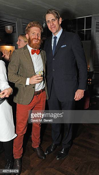 Sean Conway and Ben Elliot attends a drinks reception hosted by Ben Fogle and Bernie Shrosbree to celebrate Johnnie Walker Blue Label Alfred Dunhill...