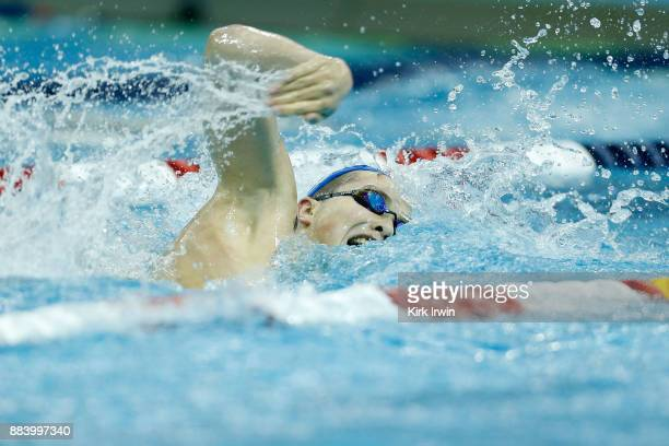 Sean Conway of Nation's Capital Swim Club competes during the AFinal of the men's 400 yard individual medley during day 3 of the 2017 Swimming Winter...