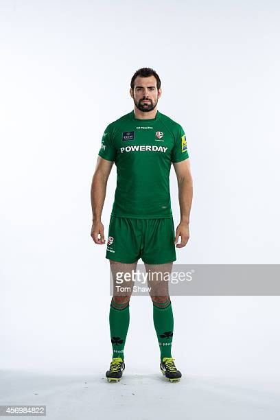 Sean Cox of London Irish poses for a picture during the BT PhotoShoot at Sunbury Training Ground on August 27 2014 in Sunbury England