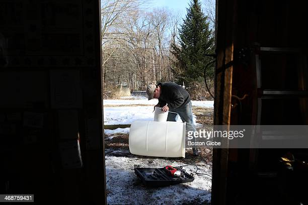 Sean Davan owner of Woodville Maples in Hopkinton works at his sugar house getting ready for maple sugaring season The International Maple Syrup...
