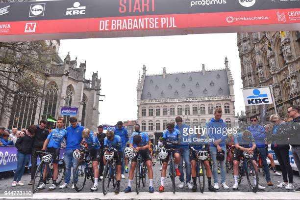 Sean De Bie of Belgium and Team Veranda's Willems Crelan / Dries De Bondt of Belgium and Team Veranda's Willems Crelan / Mathias De Witte of Belgium...
