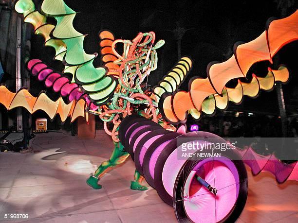 Sean DeFreitas of Fort Lauderdale Fla dances and prances showing off his Cirque de Soleil costume at the Pier House Pretenders in Paradise Costume...