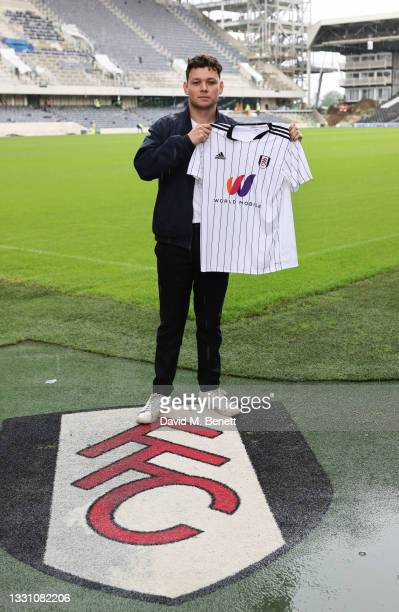 Sean Delaney attends a brunch to celebrate the partnership between World Mobile and Fulham FC at Craven Cottage on July 28, 2021 in London, England.