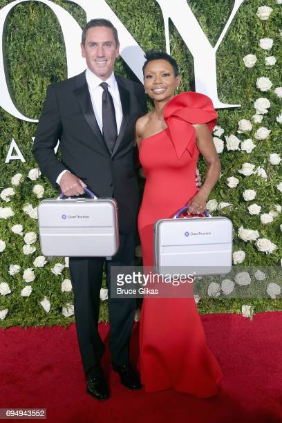 Sean Denham and Wendy MortonHuddleston of Grant Thonton attend the 71st Annual Tony Awards at Radio City Music Hall on June 11 2017 in New York City