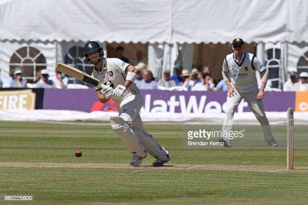 WELLS ENGLAND JUNE Joe Denly of Kent bats on day two of the Specsavers County Championship Division Two match between Kent and Warwickshire at The...