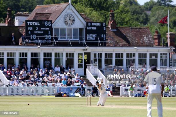 Sean Dickson of Kent in action on day two of the Specsavers County Championship Division Two match between Kent and Warwickshire at The Nevill Ground...