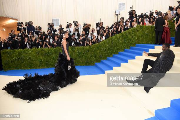 Sean 'Diddy' Combs aka Puff Daddy and Cassie attends the 'Rei Kawakubo/Comme des Garcons Art Of The InBetween' Costume Institute Gala at Metropolitan...