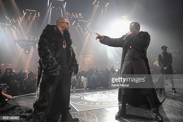 Sean Diddy Combs aka Puff Daddy and Nas perform onstage during the Puff Daddy and The Family Bad Boy Reunion Tour presented by Ciroc Vodka And Live...