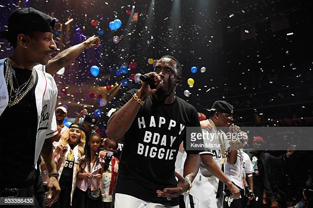 "Sean ""Diddy"" Combs aka Puff Daddy and the Bad Boy family perform onstage during the Puff Daddy and The Family Bad Boy Reunion Tour presented by Ciroc..."